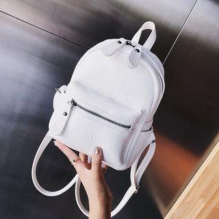 JAMEL - Faux-Leather Mini Backpack