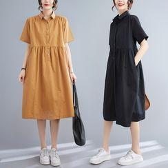 RAIN DEER - Short-Sleeve Shirtdress