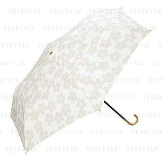 Wpc - Foldable Travel Umbrella White Flower