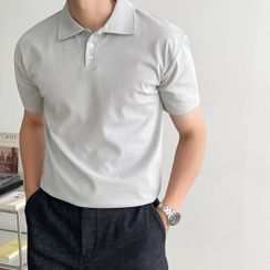 Seoul Homme - Muscle-Fit Cotton Polo Shirt