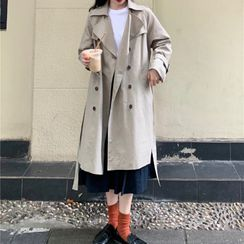Cebusky - Double Breasted Trench Coat