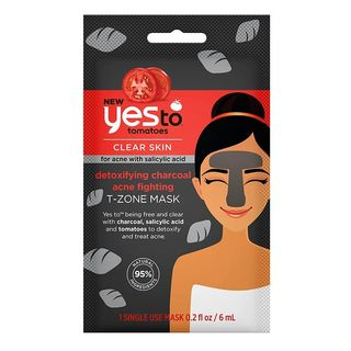 Yes To - Yes To Tomatoes: Detoxifying Charcoal Acne Fighting T-Zone Mask (Single Use)