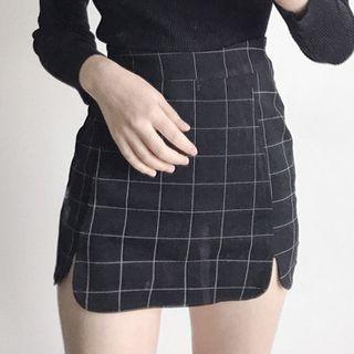 Dute - Plaid Mini Skirt