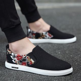 HANO - 印花帆布轻便鞋