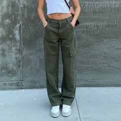 Honet - Low-Waist Cargo Pants
