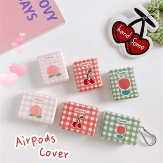 Edgin - Plaid Print AirPods Earphone Case Protection Cover