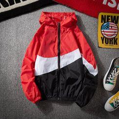Sheck - Color Block Hooded Jacket