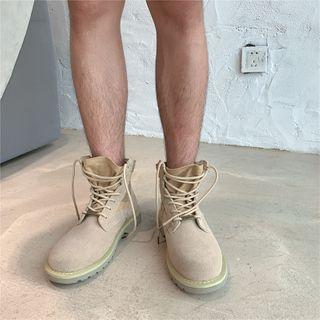 Algodon - Platform Lace Up Short Boots / Lace Up Shoes