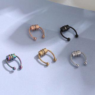 Prushia - Stainless Steel Magnetic Horseshoe Septum Ring