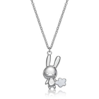 Kenny & co. - 925 Silver Rabbit C Cloud Pendant with Necklace