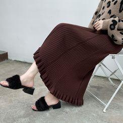 Carminola - Midi A-Line Knit Skirt