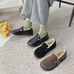 Belbie - Round-Toe Fleece-Lined Slip-Ons