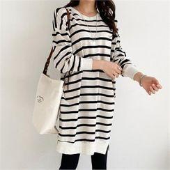 PIPPIN - Drop-Shoulder Stripe Dress