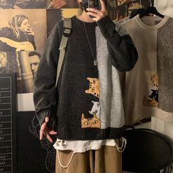 Ceache - Car Embroidered Sweater