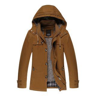 Carser - Detachable Lining Hooded Zip Jacket