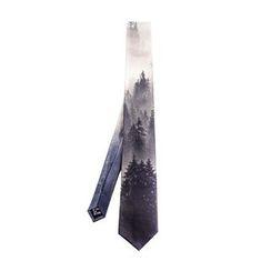Luonan - 森林印花领带