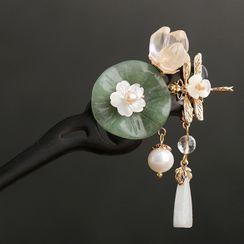 Kanzashi - 复古珍珠花朵发簪