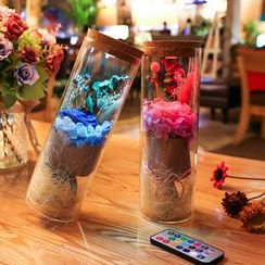 Cloud Forest - Preserved Flower Ornament with Light