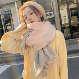 Dreamaway - 插色流苏围巾