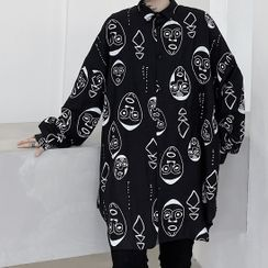 Bjorn - Cartoon Printed Long-Sleeve Shirt