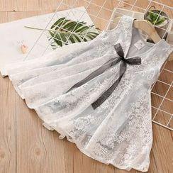Seashells Kids - Kids Sleeveless Lace A-Line Dress