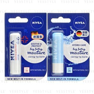 NIVEA - 24H Melt-In Moisture Lip Balm SPF 15 - 2 Types