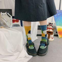 ASAIDA - Two Design Printed Socks (Various Design)