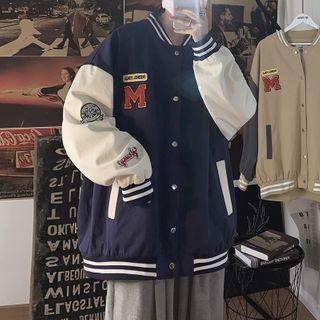 EOW - Couple Matching Embroidered Baseball Jacket