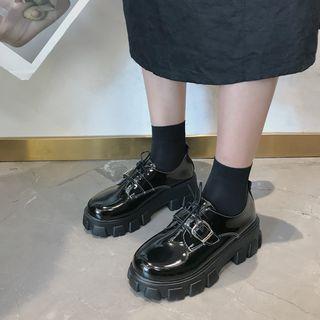 COCUNA - Faux Leather Platform  Shoes