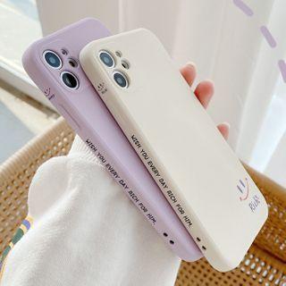 Pixel Dream - Smiley Face Print Phone Case - iPhone 12 Pro Max / 12 Pro / 12 / 12 Mini / 11 Pro Max / 11 Pro / 11 / Xs Max / Xr / Xs / X / 8 Plus / 8 / 7 Plus / 7 / SE 2