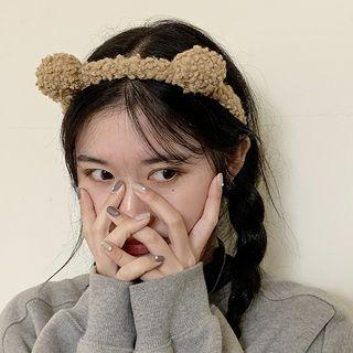 CIMAO - 毛绒熊耳朵发带