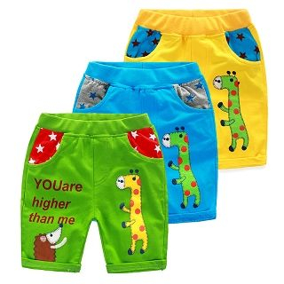 WellKids - Kids Printed Applique Cropped Pants