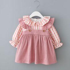Mini Bae - Kids Mock Two-Piece Long-Sleeve Dress