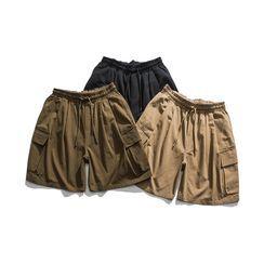 Hansler - Drawstring-Waist Cargo Shorts