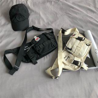 Mulgam - Lettering Multi-Section Sling Bag
