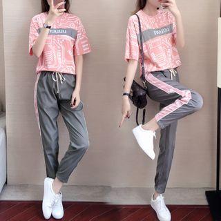 Ayibu - 套裝: 短袖運動T裇 + 運動褲