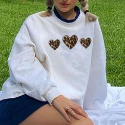 BrickBlack - Heart Print Sweater