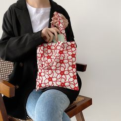 TangTangBags(タンタンバッグズ) - Floral Embroidered Tote Bag