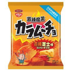 Nissin - Koikeya Karamucho Hot Chilli Cheese Flavour Potato Chips 25g