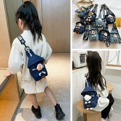 Trendy Spot - Animal Applique Denim Sling Bag