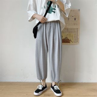EOW - Cropped Adjustable Cuff Pants