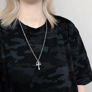 PANGU - Stainless Steel Cross Pendant Necklace