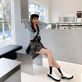 PPGIRL - Frilled Leopard Miniskirt