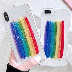 Mobby - 彩虹印花透明手机保护套 - iPhone XS Max / XS / XR / X / 8 / 8 Plus / 7 / 7 Plus / 6s / 6s Plus
