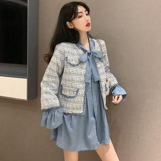 MISMode - Tweed Jacket / Mini Shirt Dress