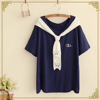 Angel Love - Short-Sleeve Embroidered T-Shirt
