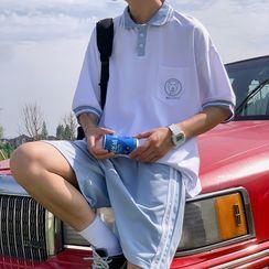 Nadroj - 情侶套裝: 中袖馬球襯衫 + 運動短褲