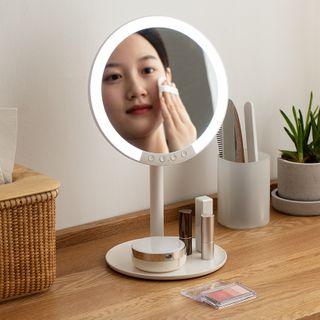 Lazy Corner - Rechargeable  LED Round Desktop Mirror