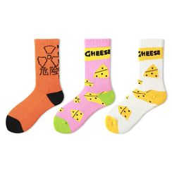 Jansi - Set of 3: Printed Socks