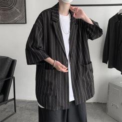 Soulcity - Pinstripe Oversized Blazer
